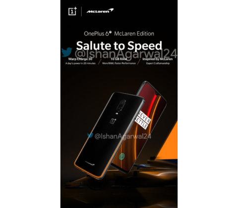 OnePlus 6T MCLaren Edition smartphone Android 2