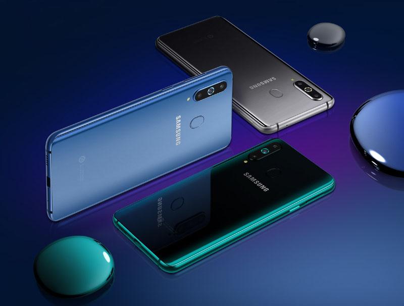 Samsung Galaxy A8s smartphone Android 3 Samsung Galaxy A10 smartphones