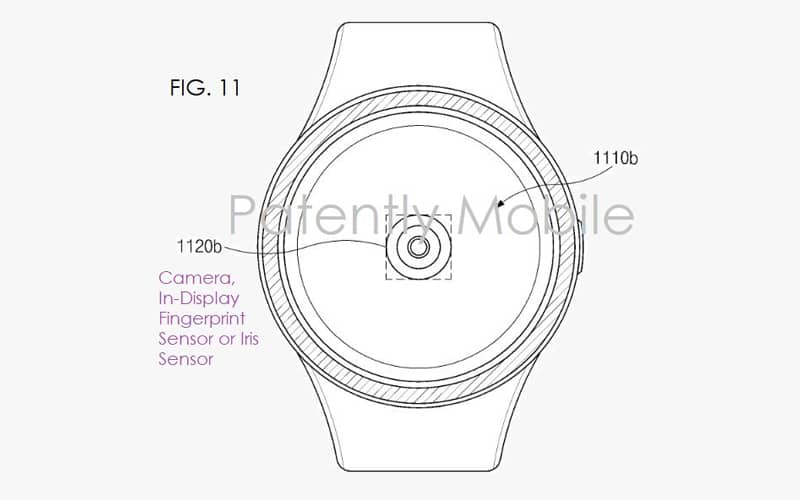 Samsung Galaxy Watch smartwatch impressão digital