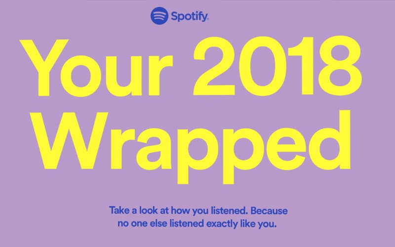Spotify Wrapped 2018