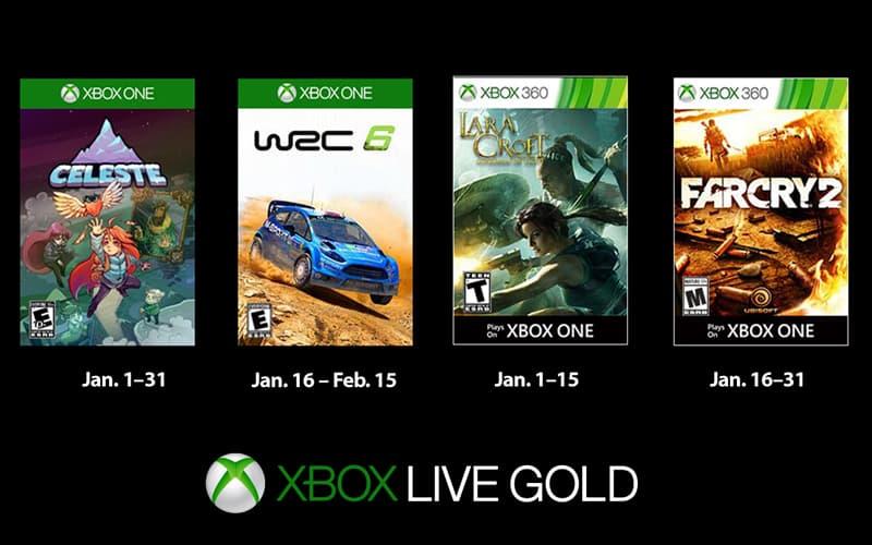 Xbox One Live jogos grátis janeiro