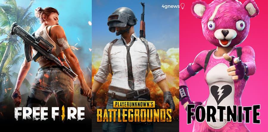 Garena Free Fire, PUBG ou Fortnite. Qual o jogo que usa menos internet?