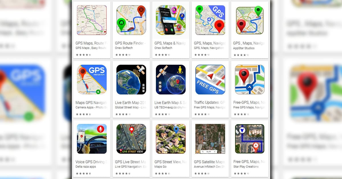 Google Play Store Google Maps Fakes