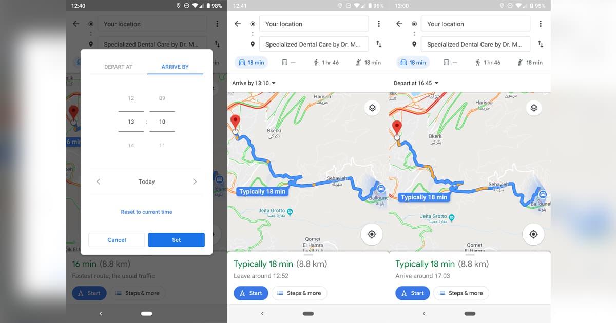 Google Maps atualização Android