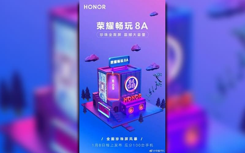 Huawei Honor 8A smartphone 2019 android pie