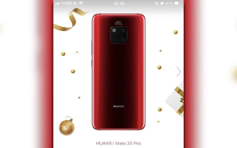 Huawei Mate 20 Pro Vermelho 2019 Android smartphone cores