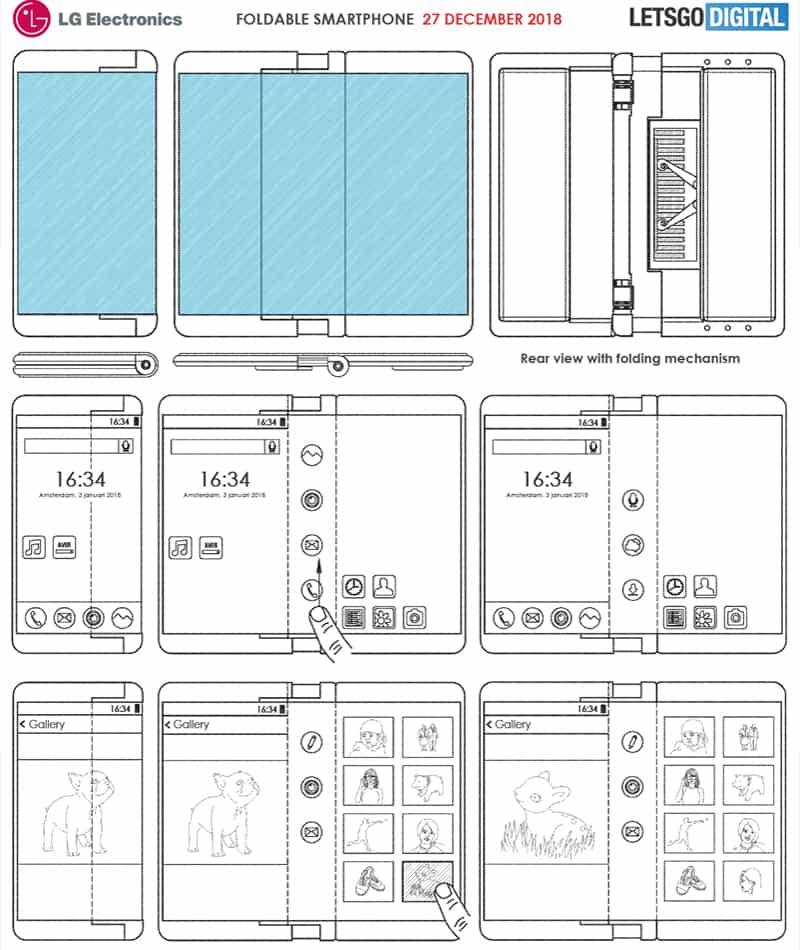 LG smartphone dobrável patente