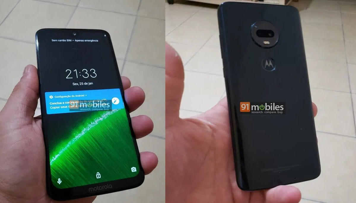 Motorola Moto G7: Fotografias reais mostram o smartphone