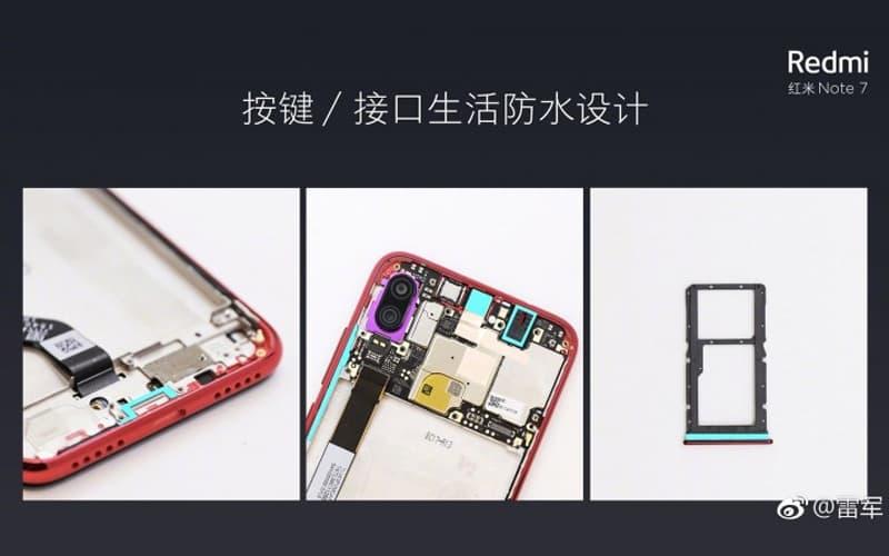 Xiaomi Redmi Note 7 água