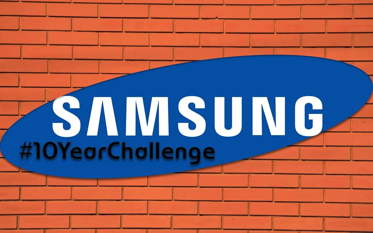 Samsung #10YearChallenge smartphone dobrável