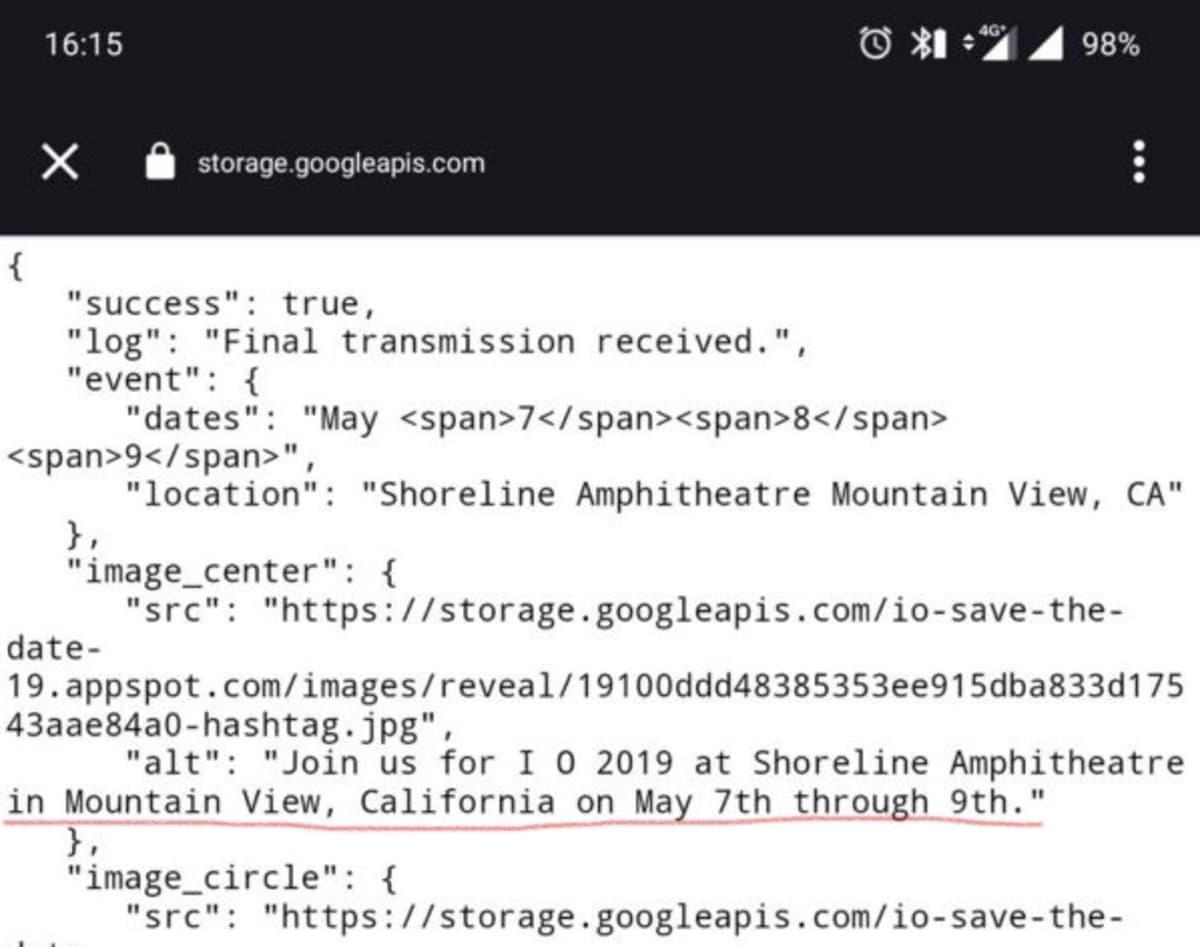 """Programador """"passa a perna"""" e revela data do Google I/O"""