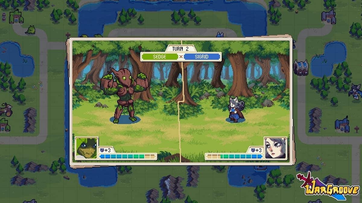 Wargroove foi criado com base em pixel art, tal como o antecessor