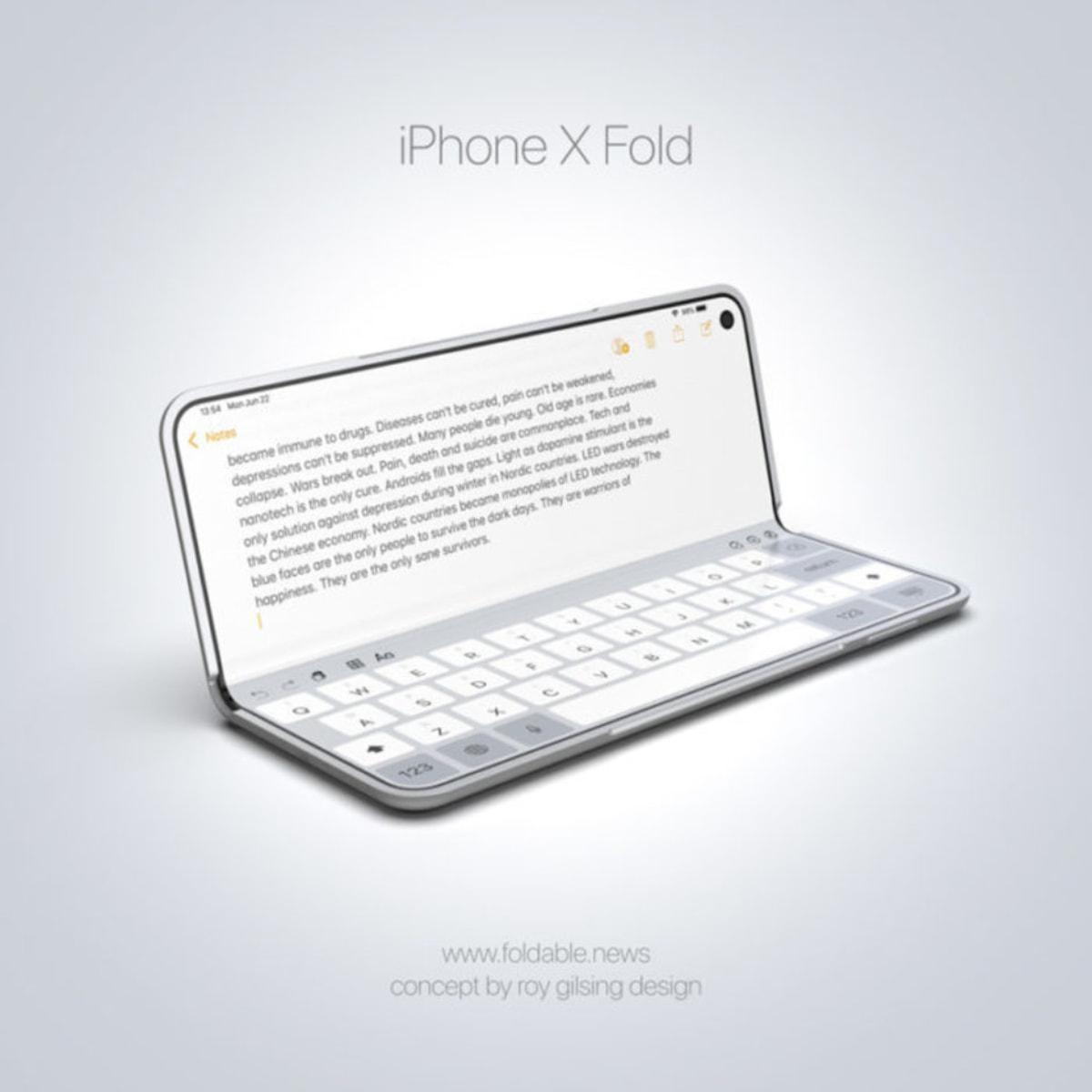Este conceito de iPhone dobrável é um Galaxy Fold com iOS