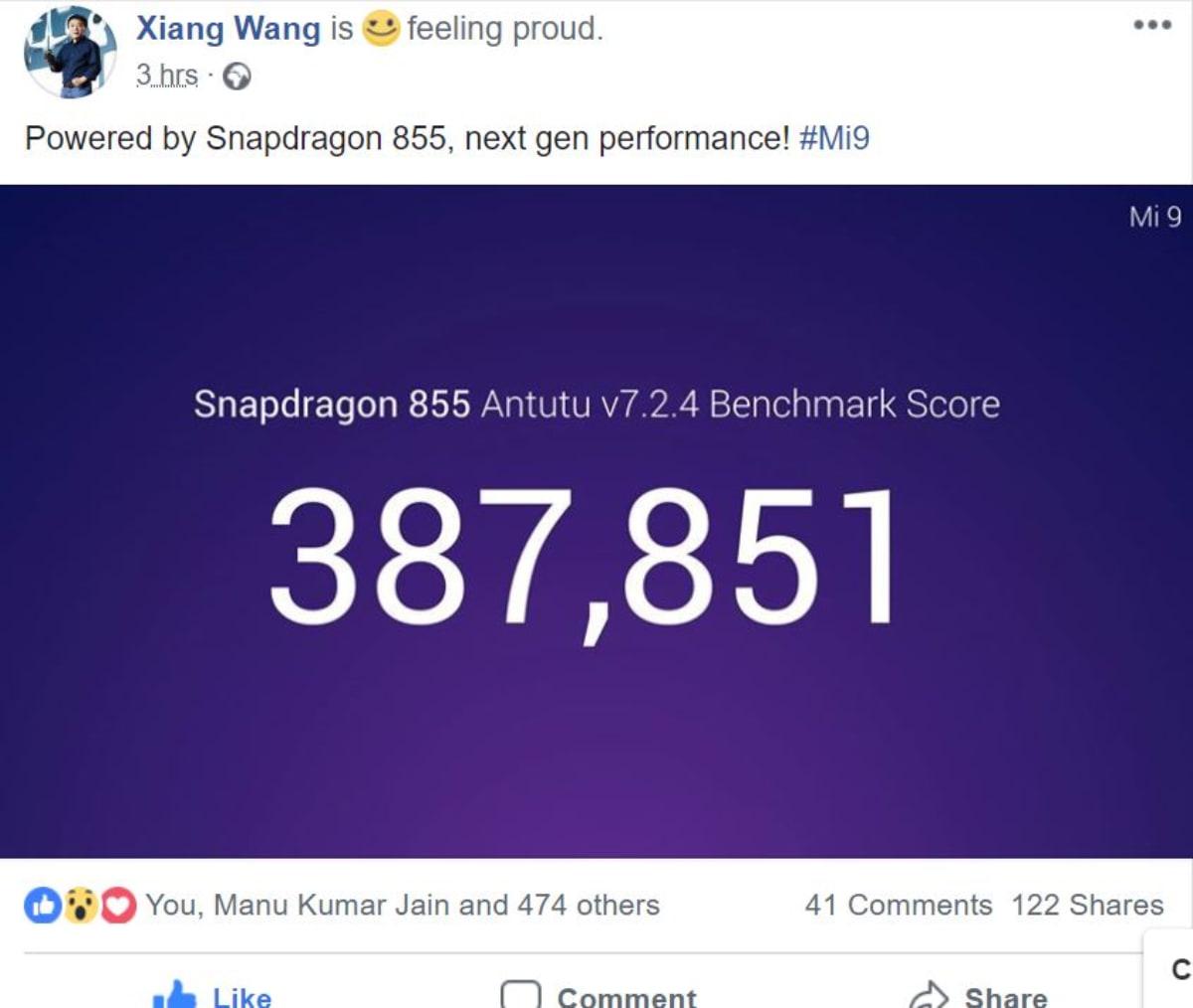 Xiaomi Mi 9 ultrapassa Galaxy S10+ no AnTuTu