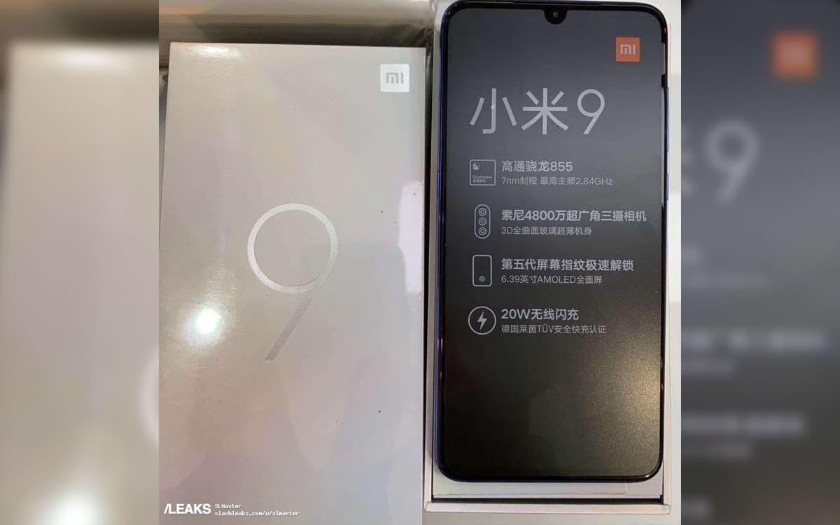 Xiaomi Mi 9 Specs leak