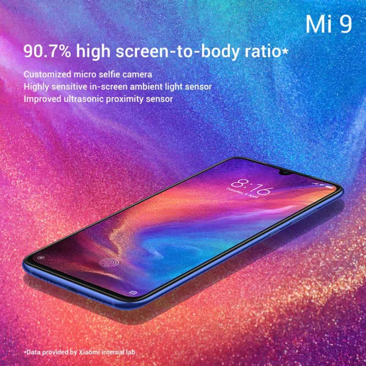 Xiaomi Mi 9 traz sensor biométrico no ecrã mais rápido até à data