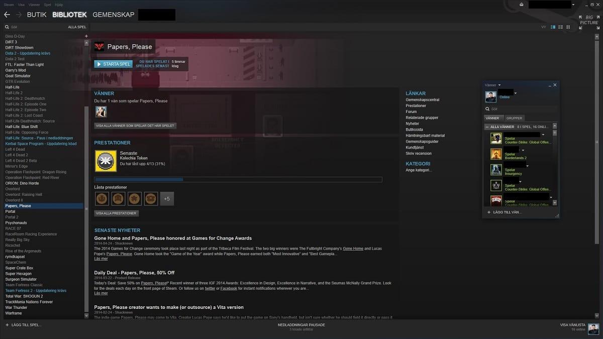 O actual layout da Steam; acreditas que já tem, pelo menos, 6 anos?